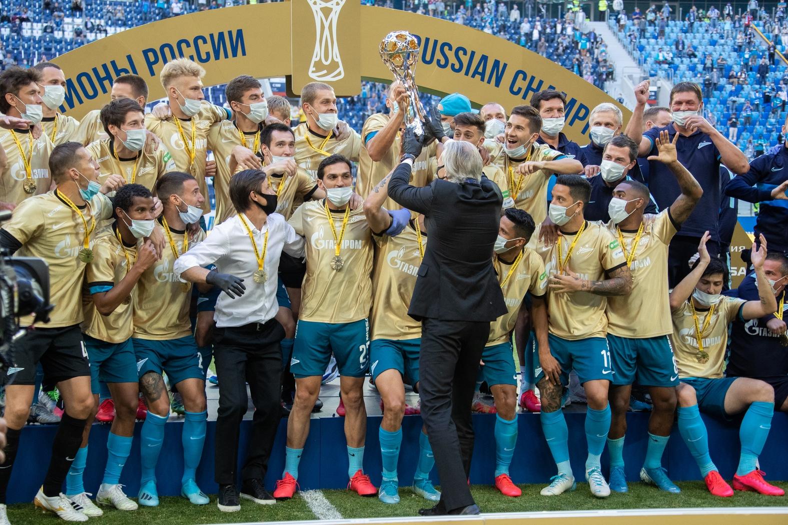 ФК Зенит чемпион России 2019/20